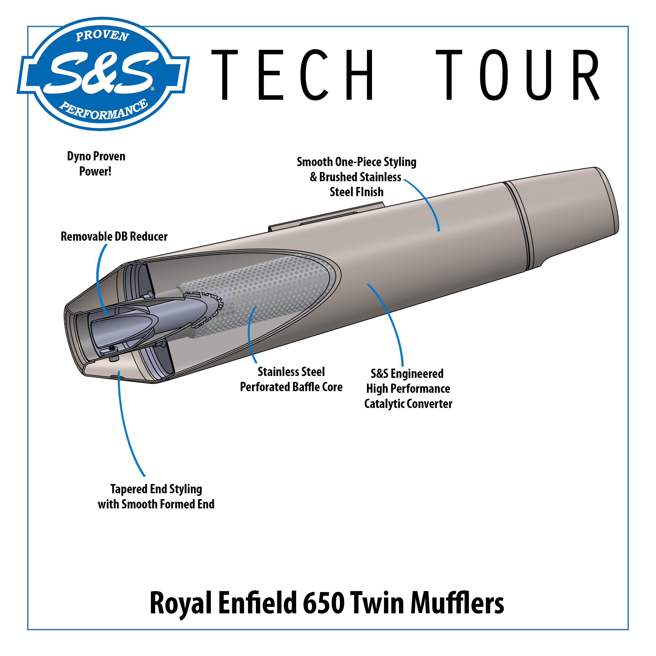S&S Tech Tour - 650 Twin Muffler