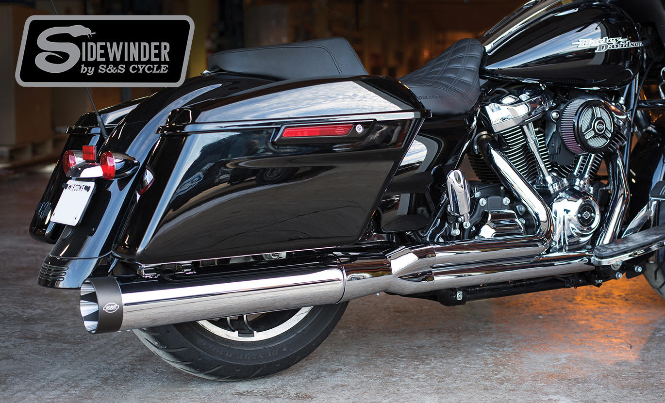 S&S Sidewinder- 2 Into 1 Exhaust Systems and Shadow Pipes